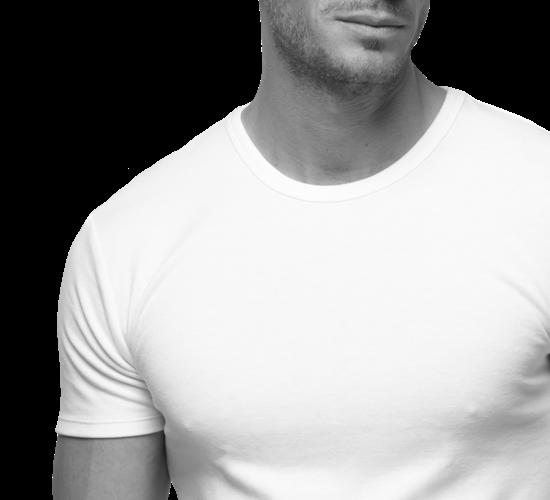 Camisetas interiores de manga corta para hombre