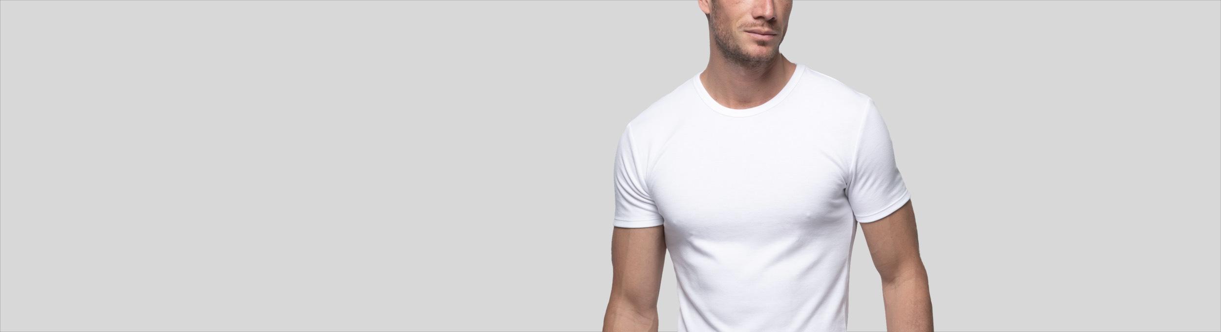 Camisetas interiores de manga corta para hombre Abanderado