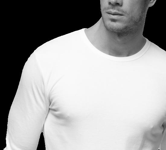 Camisetas interiores de manga larga para hombre