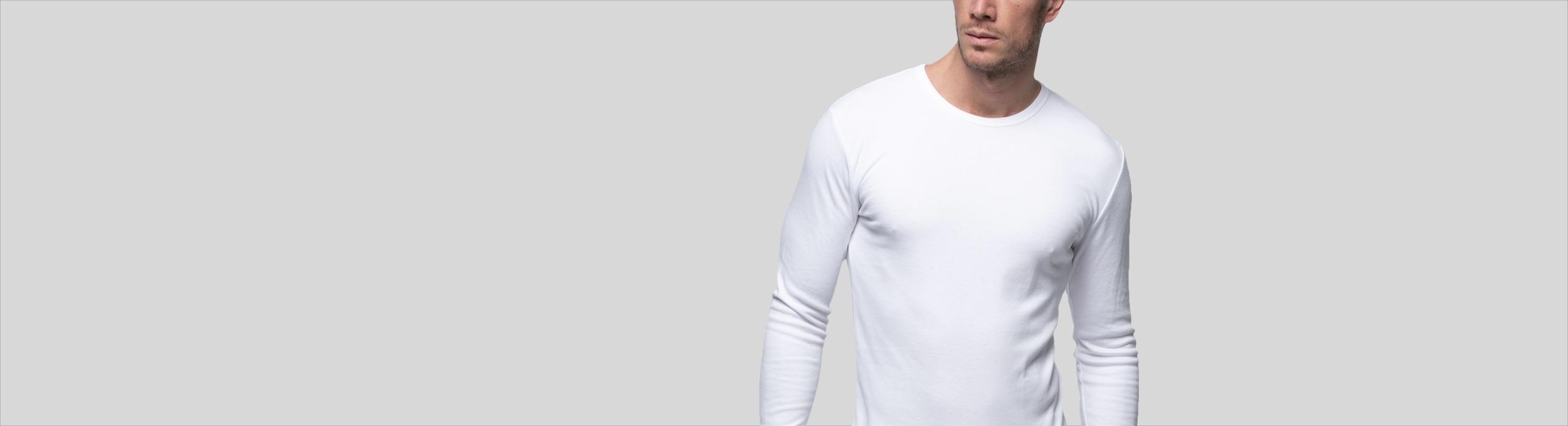 Camiseta interior de manga larga para hombre Abanderado
