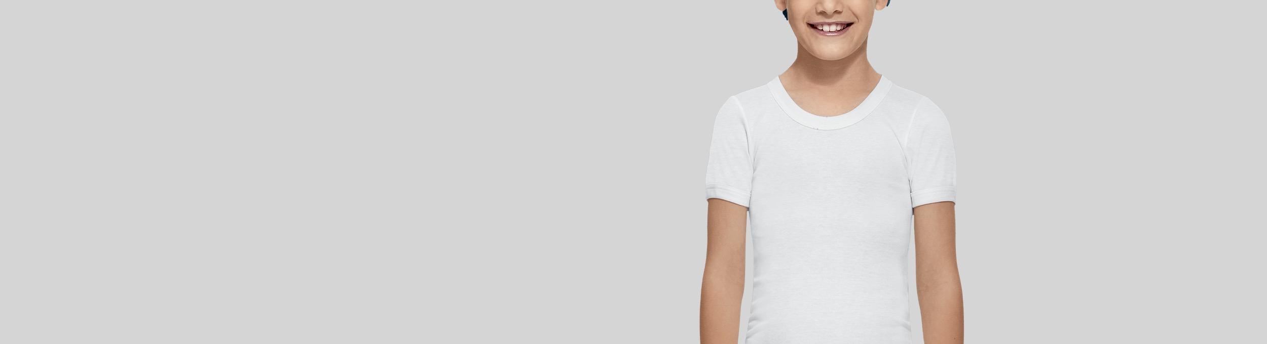 Camisetas interiores de manga corta para niño Abanderado