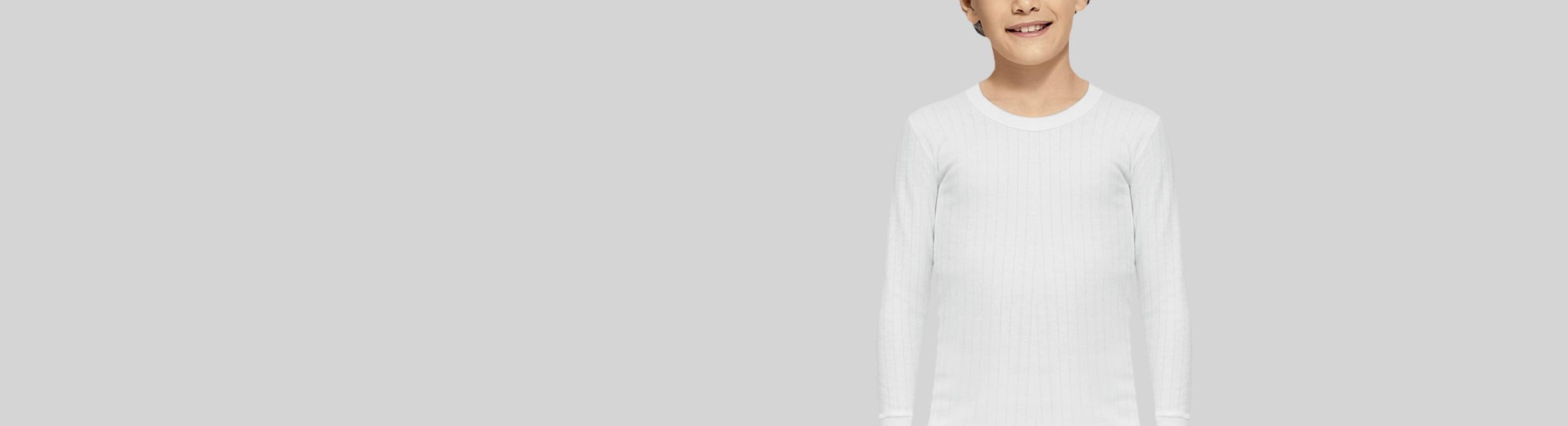 Camisetas interiores de niños manga larga de Abanderado