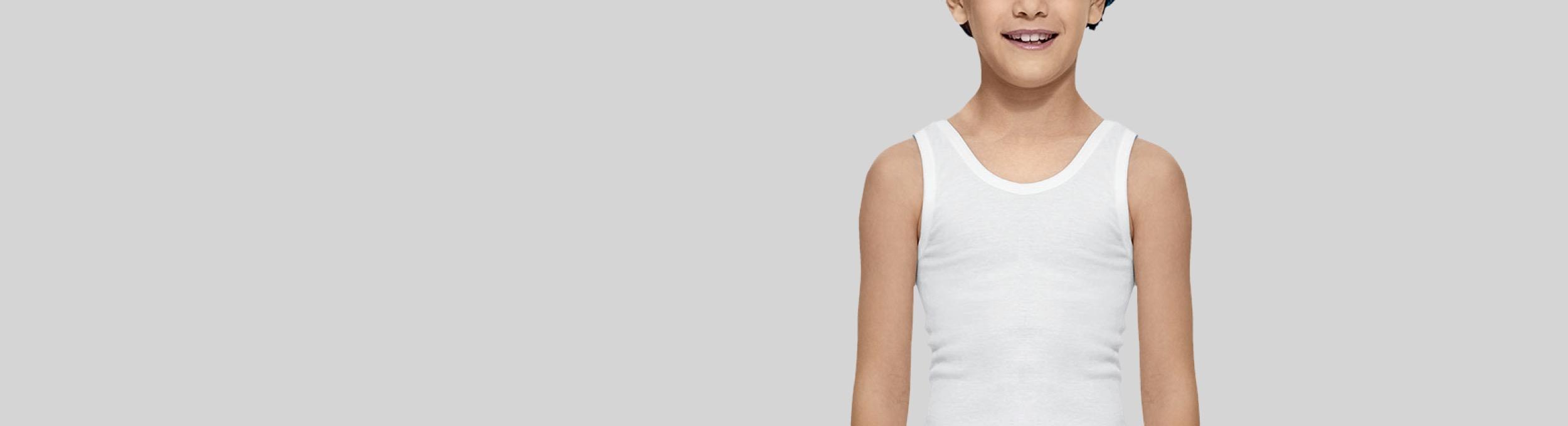 Camisetas de interior de tirantes para niño Abanderado