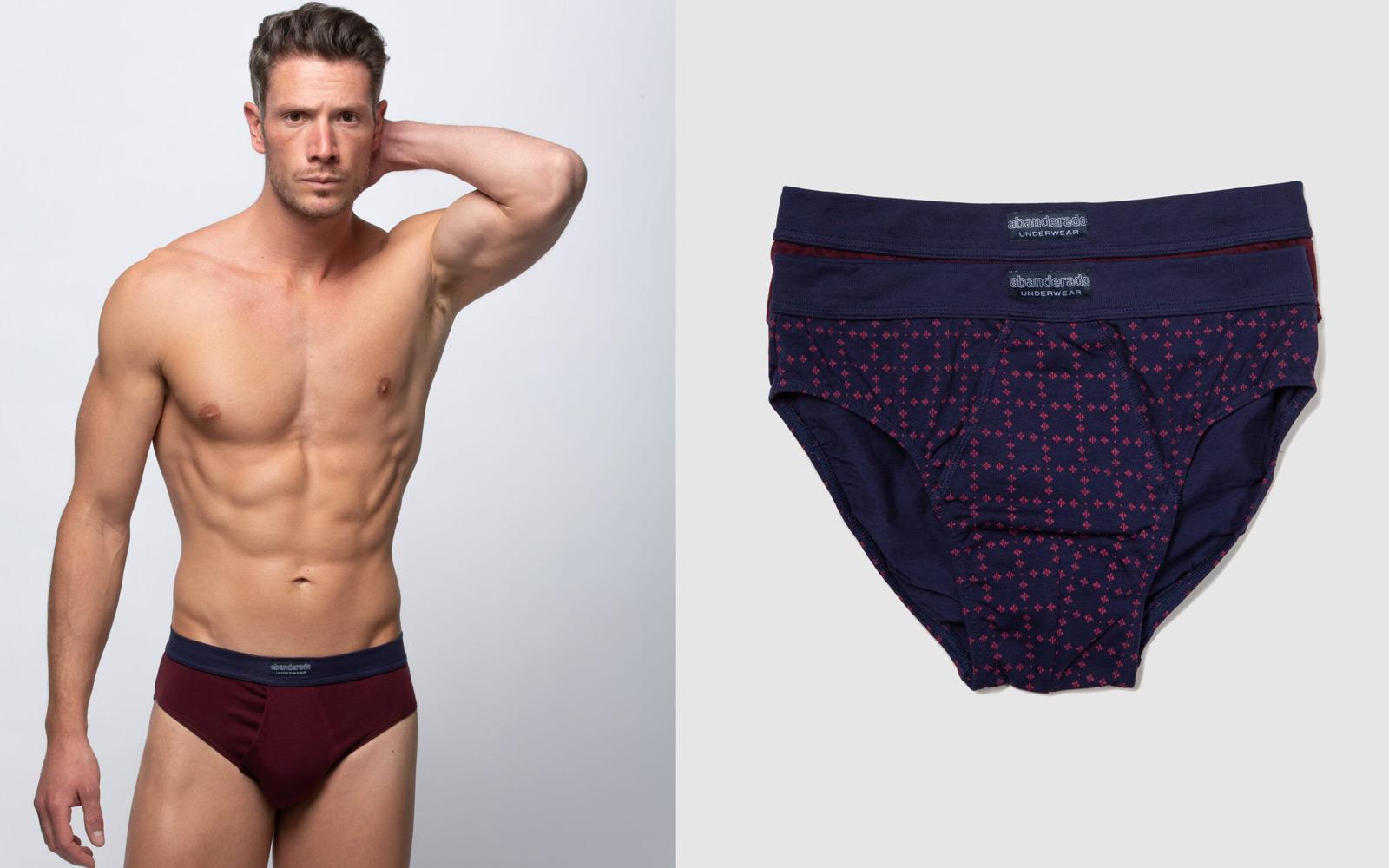 colores cálidos en ropa interior de hombre
